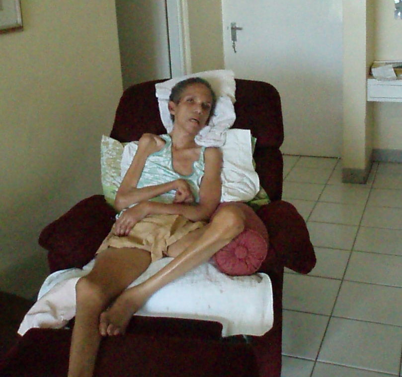 A picture of my mother Hyacinth Turriff at a nursing home in Kingston Jamaica when I went to visit her while I was attending the Waterview psychiatric unit