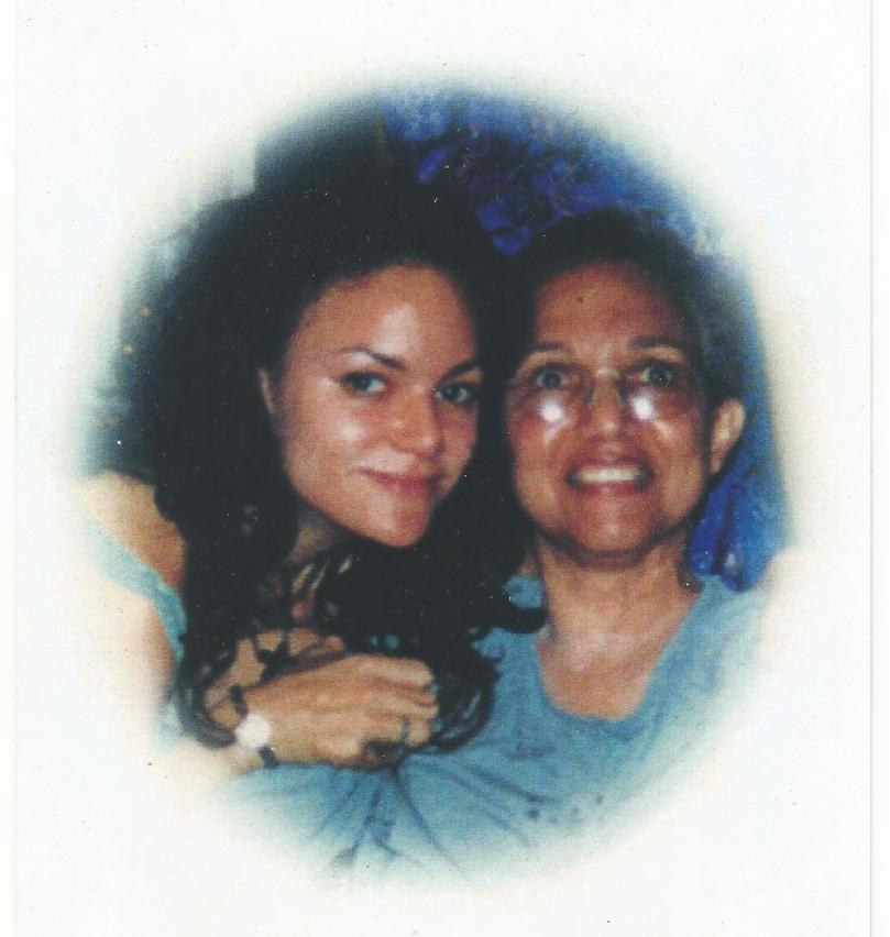 A picture of Caroline Turriff with her mother in Kingston Jamaica while Caroline was working for the BBC