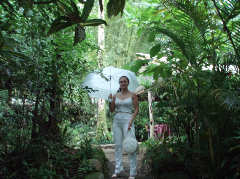 A picture of Caroline Turriff at a wedding venue outside Kingston Jamaica