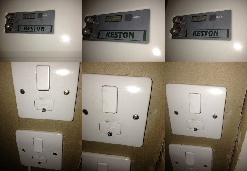 As part of my four hour OCD ritual at my house in Notting Hill I have to photograph the Keston boiler and the switches for the boiler and Megaflo immersion heater to prove both are switched off. Otherwise my OCD tells me the house will burn down.