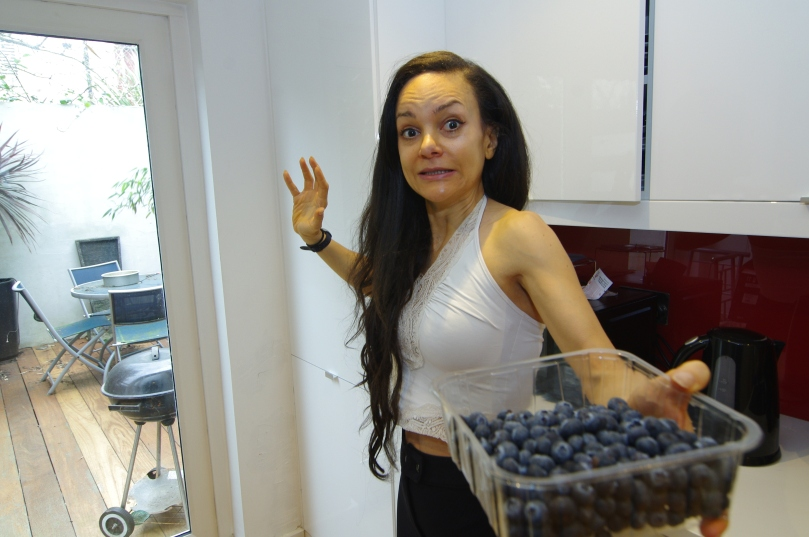 I Caroline Turriff am in complete terror as I think a terrorist group has poisoned all the blueberries at my local supermarket Sainsbury's Ladbroke Grove because of the tiny cuts in the packaging. I am so paranoid I cannot eat the blueberries.