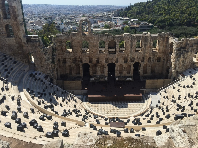 I complete my first piece of journalism in my entire 10 year recovery covering the Greek elections then go to the Acropolis complex sightseeing where I find a Roman amphitheatre