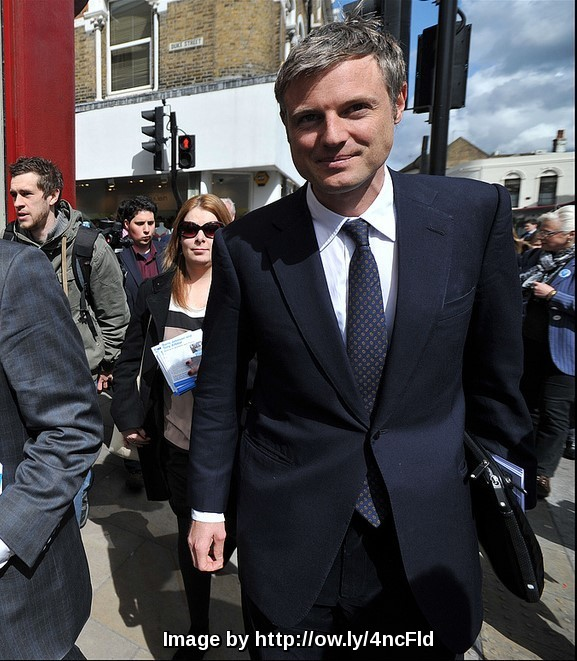 Zac Goldsmith out campaigning in his bid to become London Mayor with the current mayor and leading Brexit campaigner Boris Johnson