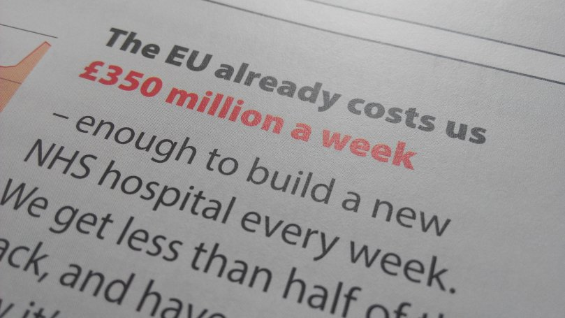 As part of their election campaign vote leave said that the £350 million pounds they said we gave to the European Union every week which in fact was a lie as it is half of that would be given to the NHS if we left. As soon as they won the vote this promise was retracted as was their pledge to reduce numbers on immigration.
