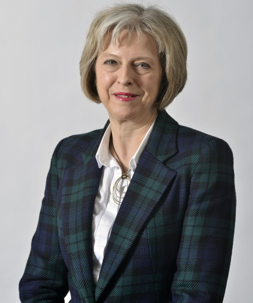 The British Home Secretary Theresa May who has said she wants to be the next Prime Minister of the UK replacing David Cameron and who has become the front runner in the race to become leader of the Conservative Party
